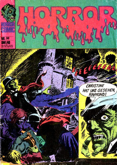 Cover for Horror (BSV - Williams, 1972 series) #30
