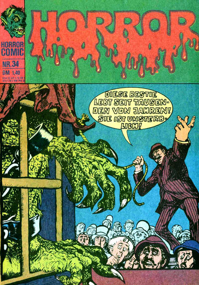 Cover for Horror (BSV - Williams, 1972 series) #34