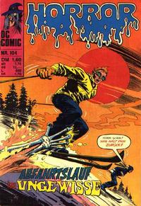 Cover Thumbnail for Horror (BSV - Williams, 1972 series) #104