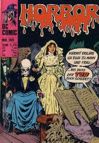 Cover Thumbnail for Horror (BSV - Williams, 1972 series) #109