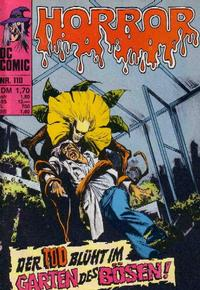 Cover Thumbnail for Horror (BSV - Williams, 1972 series) #110