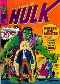 Cover Thumbnail for Hulk (BSV - Williams, 1974 series) #1