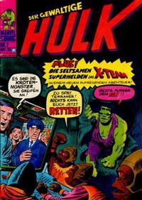 Cover Thumbnail for Hulk (BSV - Williams, 1974 series) #2