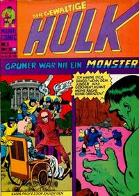 Cover Thumbnail for Hulk (BSV - Williams, 1974 series) #5