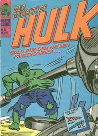 Cover Thumbnail for Hulk (BSV - Williams, 1974 series) #13