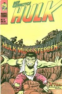Cover Thumbnail for Hulk (BSV - Williams, 1974 series) #24