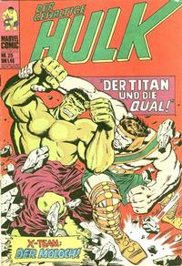 Cover Thumbnail for Hulk (BSV - Williams, 1974 series) #25