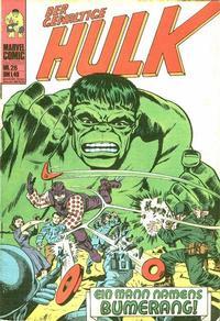 Cover Thumbnail for Hulk (BSV - Williams, 1974 series) #26