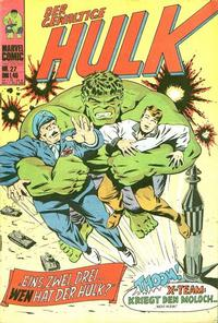 Cover Thumbnail for Hulk (BSV - Williams, 1974 series) #27