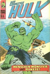 Cover Thumbnail for Hulk (BSV - Williams, 1974 series) #28