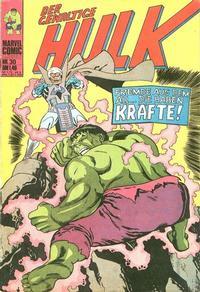 Cover Thumbnail for Hulk (BSV - Williams, 1974 series) #30