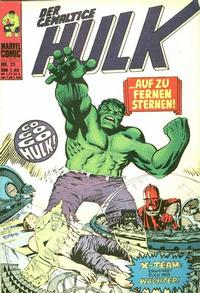 Cover Thumbnail for Hulk (BSV - Williams, 1974 series) #33
