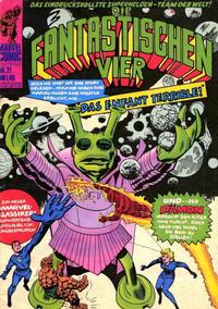 Cover Thumbnail for Die Fantastischen Vier (BSV - Williams, 1974 series) #21