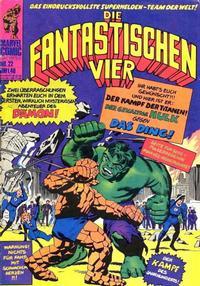 Cover Thumbnail for Die Fantastischen Vier (BSV - Williams, 1974 series) #22