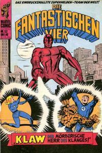 Cover Thumbnail for Die Fantastischen Vier (BSV - Williams, 1974 series) #52