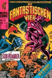 Cover Thumbnail for Die Fantastischen Vier (BSV - Williams, 1974 series) #72