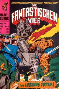 Cover Thumbnail for Die Fantastischen Vier (BSV - Williams, 1974 series) #76