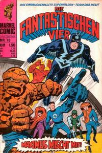 Cover Thumbnail for Die Fantastischen Vier (BSV - Williams, 1974 series) #78