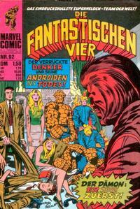 Cover Thumbnail for Die Fantastischen Vier (BSV - Williams, 1974 series) #92