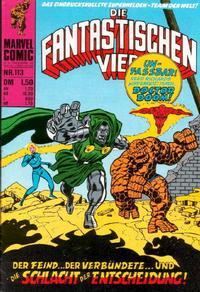 Cover Thumbnail for Die Fantastischen Vier (BSV - Williams, 1974 series) #113