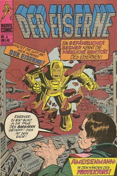 Cover for Der Eiserne (BSV - Williams, 1975 series) #4