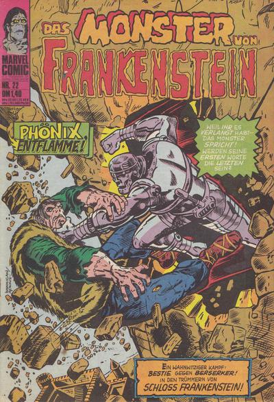 Cover for Das Monster von Frankenstein (BSV - Williams, 1974 series) #22