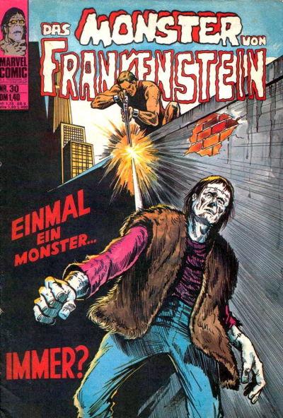 Cover for Frankenstein (BSV - Williams, 1974 series) #30