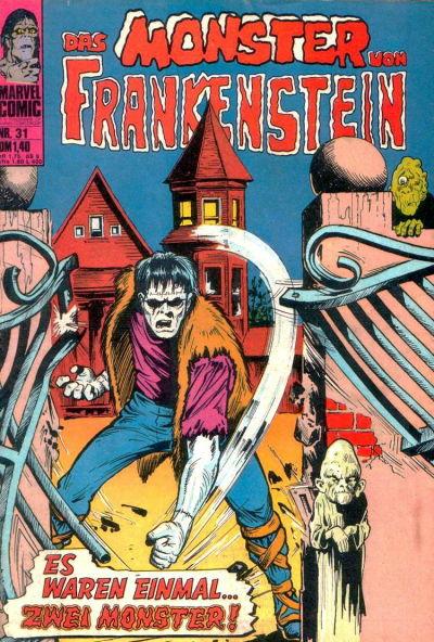 Cover for Frankenstein (BSV - Williams, 1974 series) #31