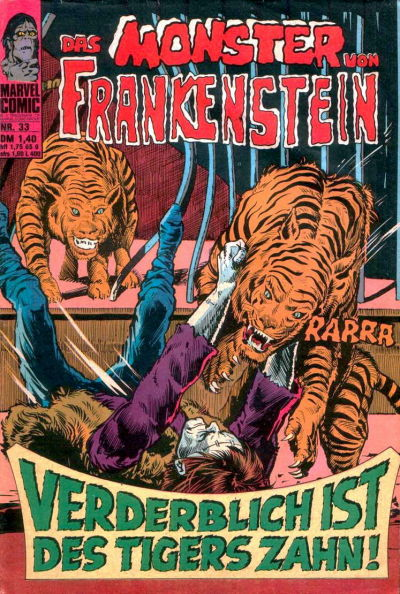 Cover for Frankenstein (BSV - Williams, 1974 series) #33
