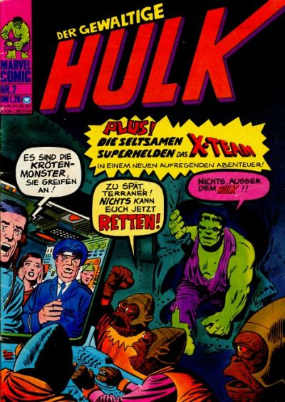 Cover for Hulk (BSV - Williams, 1974 series) #2