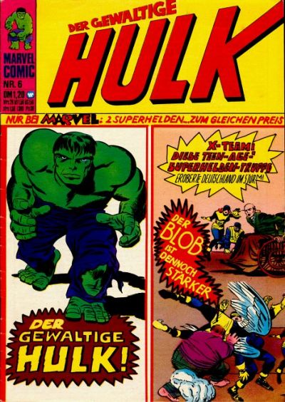 Cover for Hulk (BSV - Williams, 1974 series) #6