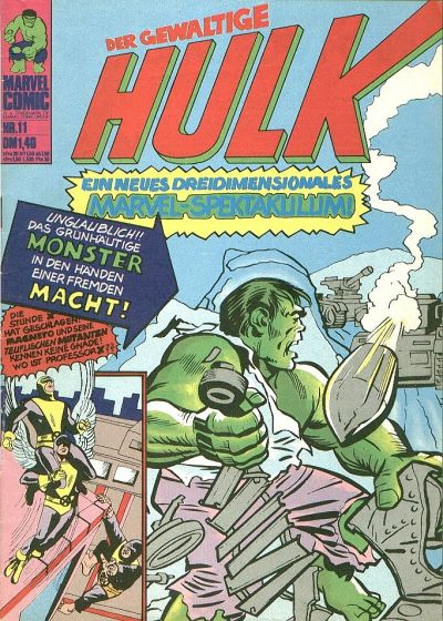 Cover for Hulk (BSV - Williams, 1974 series) #11
