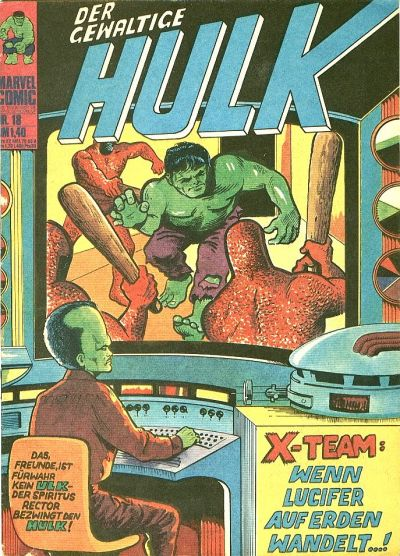 Cover for Hulk (BSV - Williams, 1974 series) #18