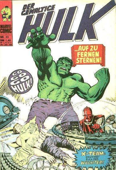 Cover for Hulk (BSV - Williams, 1974 series) #33