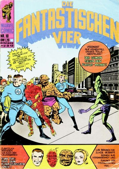 Cover for Die Fantastischen Vier (BSV - Williams, 1974 series) #10