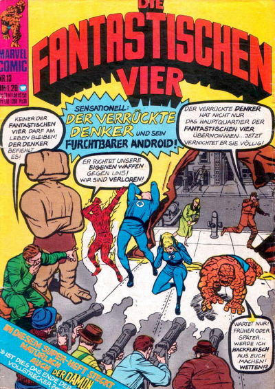 Cover for Die Fantastischen Vier (BSV - Williams, 1974 series) #13