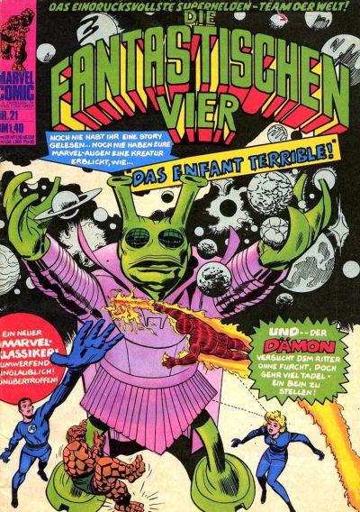 Cover for Die Fantastischen Vier (BSV - Williams, 1974 series) #21