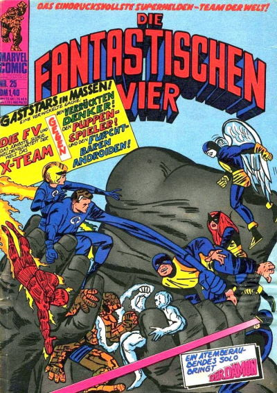 Cover for Die Fantastischen Vier (BSV - Williams, 1974 series) #25