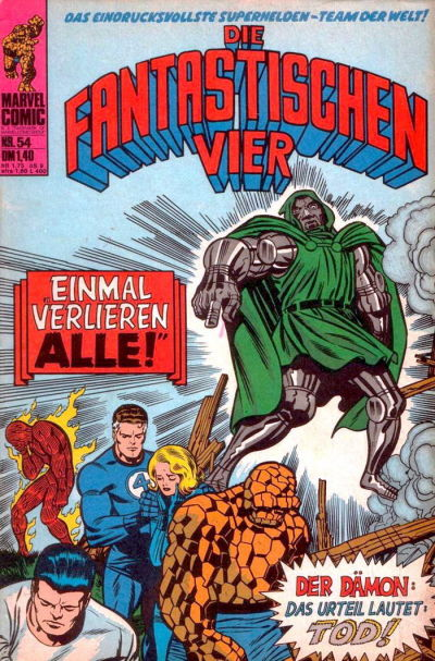 Cover for Die Fantastischen Vier (BSV - Williams, 1974 series) #54