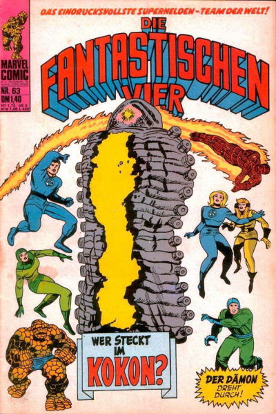 Cover for Die Fantastischen Vier (BSV - Williams, 1974 series) #63