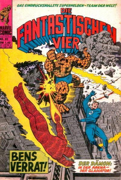 Cover for Die Fantastischen Vier (BSV - Williams, 1974 series) #65