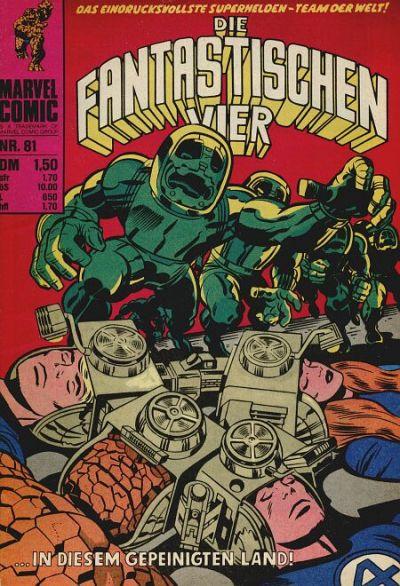 Cover for Die Fantastischen Vier (BSV - Williams, 1974 series) #81