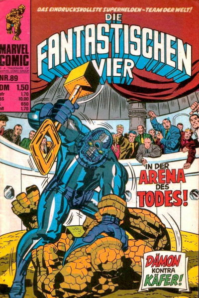 Cover for Die Fantastischen Vier (BSV - Williams, 1974 series) #89