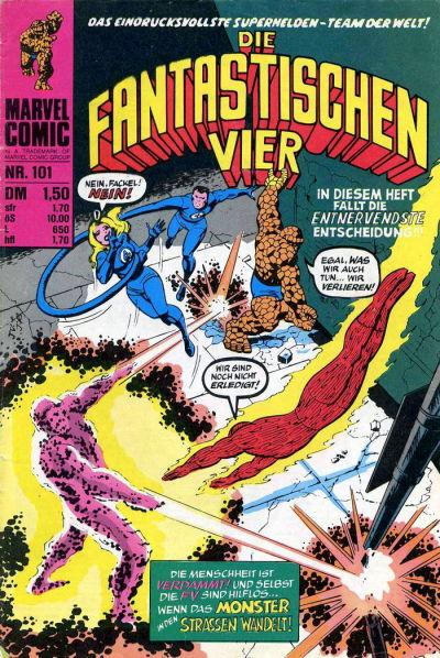 Cover for Die Fantastischen Vier (BSV - Williams, 1974 series) #101