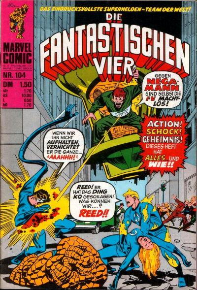 Cover for Die Fantastischen Vier (BSV - Williams, 1974 series) #104