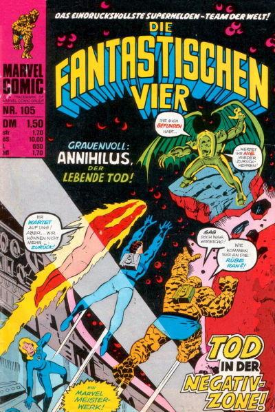 Cover for Die Fantastischen Vier (BSV - Williams, 1974 series) #105