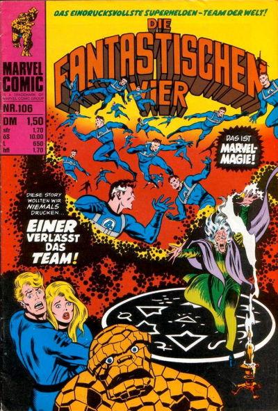Cover for Die Fantastischen Vier (BSV - Williams, 1974 series) #106