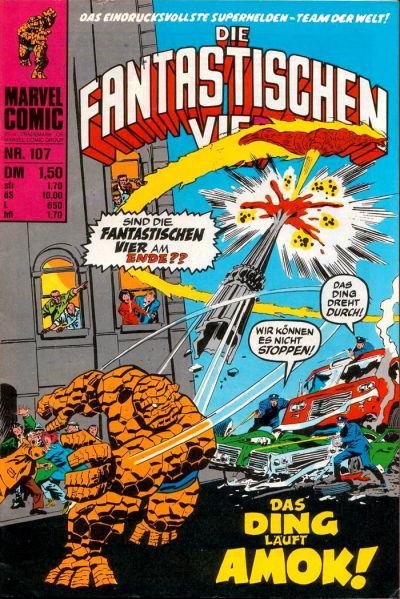 Cover for Die Fantastischen Vier (BSV - Williams, 1974 series) #107