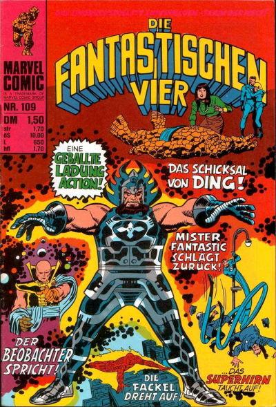 Cover for Die Fantastischen Vier (BSV - Williams, 1974 series) #109