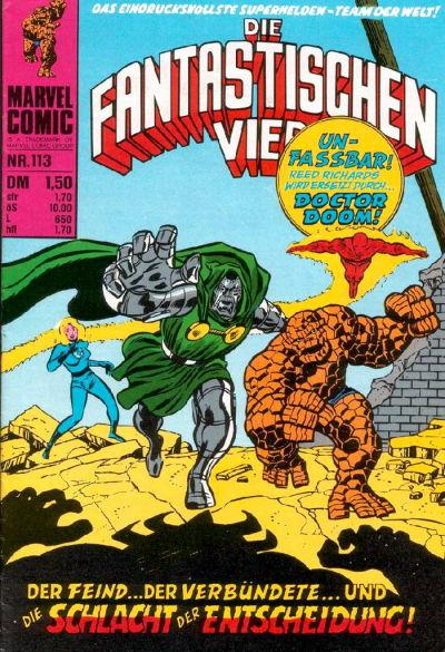 Cover for Die Fantastischen Vier (BSV - Williams, 1974 series) #113